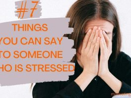 things to say to someone who is stressed