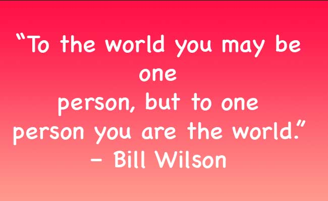world for a single person